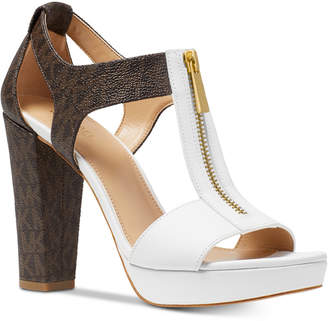 Michael Kors Berkley T-Strap Platform Dress Sandals