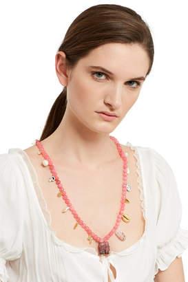 Venessa Arizaga Pink Elephant Necklace