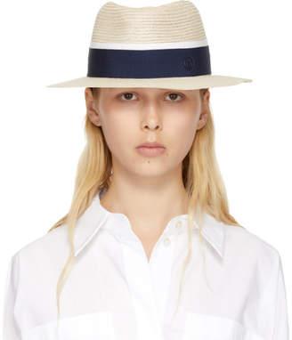Maison Michel Beige Andre Panama Hat