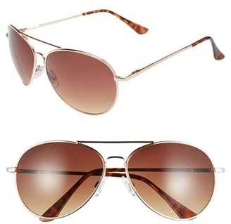 BP. 'Chance' 62mm Metal Aviator Sunglasses $12 thestylecure.com