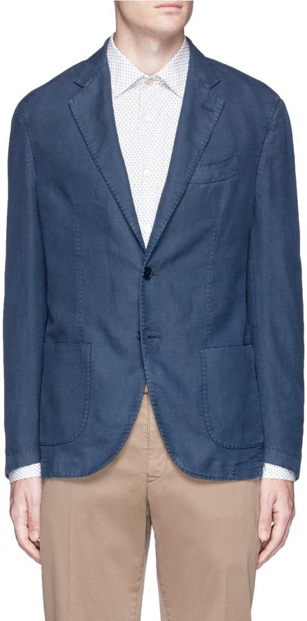 AlteaAltea Slim fit cotton-ramie soft blazer