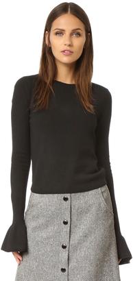 alice + olivia Anila Ruffle Sleeve Sweater $285 thestylecure.com