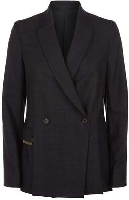 Brunello Cucinelli Monili Chain Wool Blazer