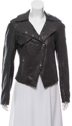 Andrew Marc Leather Notch-Lapel Jacket