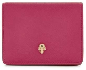Alexander McQueen Fuschia Skull Leather Wallet