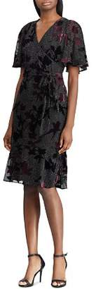 Ralph Lauren Floral Burnout Velvet Dress