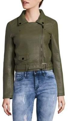 Joe's Jeans Zip Faux Leather Moto Jacket