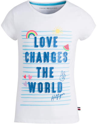 5d1f2b4ee Tommy Hilfiger Big Girls Graphic-Print Cotton T-Shirt