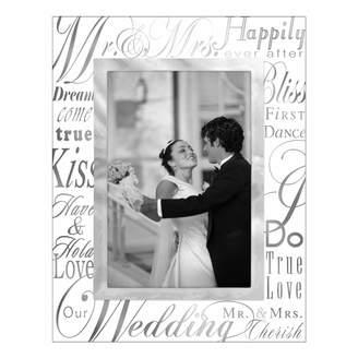 "Malden ""Mr. & Mrs."" Glass 4"" x 6"" Frame"