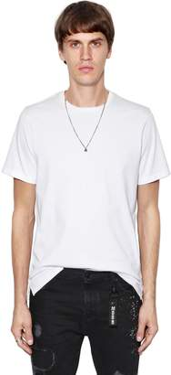 The Kooples Skull Necklace & Heavy Jersey T-Shirt