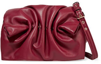 Valentino Garavani Bloomy Studded Leather Shoulder Bag - Burgundy
