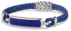 David Yurman Engraved Silver Bracelet