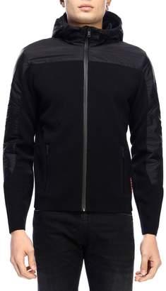 Prada Sweatshirt Zip Sweatshirt With Bi-material Hood