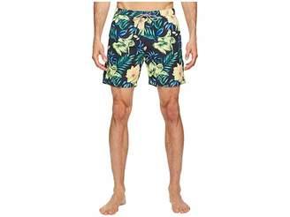 Scotch & Soda Medium Length Swim Shorts in Cotton/Nylon Quality with All Over Men's Swimwear