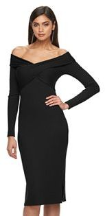 Women's Jennifer Lopez Off-the-Shoulder Sheath Dress $64 thestylecure.com