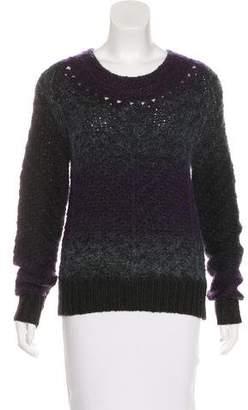 Theyskens' Theory Open Knit Mohair-Blend Sweater