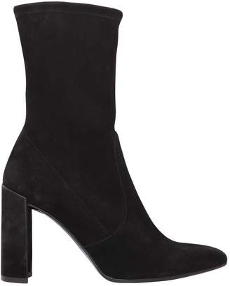 Stuart Weitzman 90mm Clinger Stretch Suede Ankle Boots