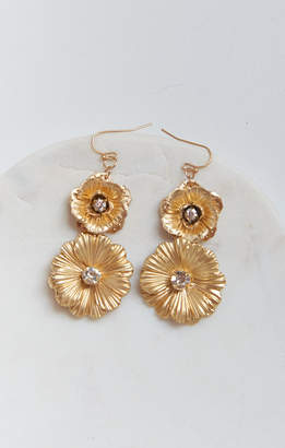 Show Me Your Mumu Bridie Flower Earrings ~ Gold