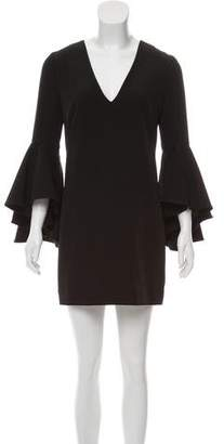 Milly Bell Sleeve V-Neck Dress