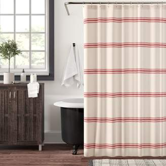 Eider Ivory Matterson Stripe Cotton Single Shower Curtain