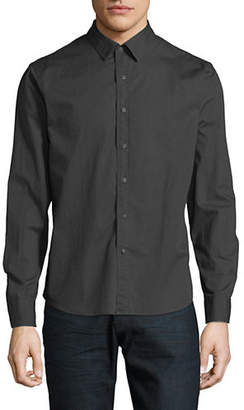 CORE LIFE Solid Cotton Long Sleeve Sport Shirt