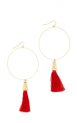 Vanessa Mooney The Summer of Love Tassel Hoop Earrings $45 thestylecure.com
