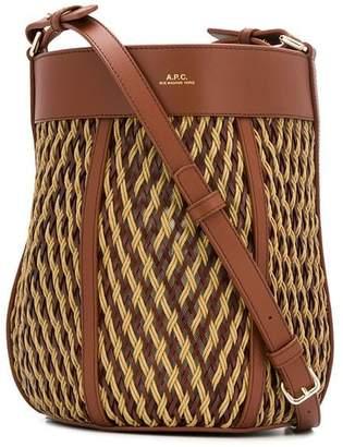 A.P.C. woven cross body bag