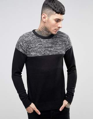 Brave Soul Sweater with Reverse Panel