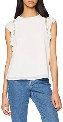 New Look Women's 56067 Blouse, (White ), 8 (Size:8)