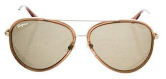 Salvatore Ferragamo Gradient Aviator Sunglasses