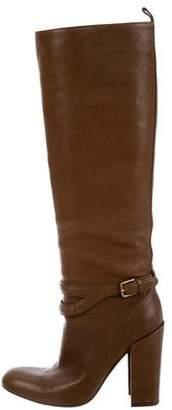 Saint Laurent Leather Knee-High Boots