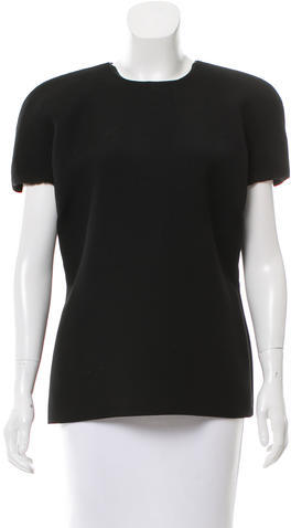 Bottega Veneta Bottega Veneta Wool Cap Sleeve Top