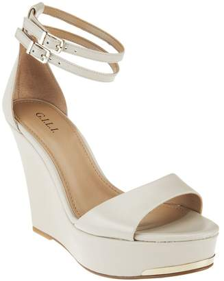 G.I.L.I. Got It Love It G.I.L.I. Leather Ankle Strap Wedges - Avery