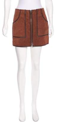 Nicole Miller Suede Mini Skirt w/ Tags