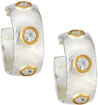 Gurhan Amulet Hue Constellation White Sapphire Hoop Earrings