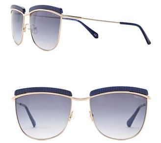 Balmain Women's Clubmaster 56mm Metal Frame Sunglasses