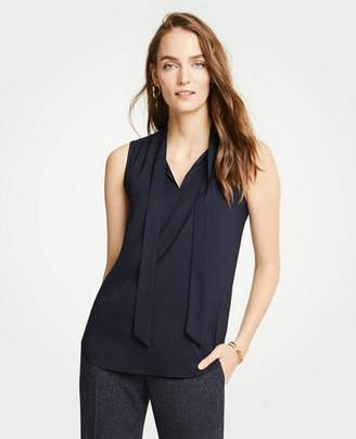 Ann Taylor Tie Neck Shell