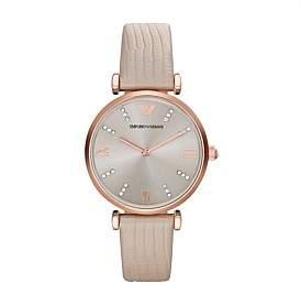 Emporio Armani Gianni T-Bar Light Brown Watch