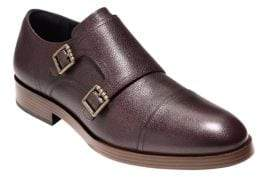 Cole Haan Henry Grand Leather Double Monk Straps
