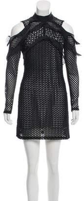 Self-Portrait Cold-Shoulder Mini Dress w/ Tags