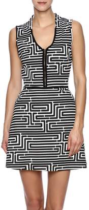 Vfish Designs Geometric Print Dress