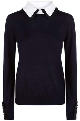 Claudie Pierlot Pleated Trim Sweater