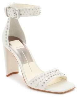 Dolce Vita Eloise Studded Leather Ankle-Strap Sandals
