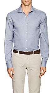 Ralph Lauren Purple Label MEN'S ASTON HERRINGBONE COTTON SHIRT-BLUE SIZE XXXL