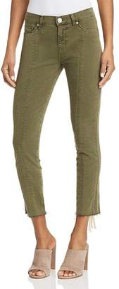 Hudson Nico Lace-Up Cropped Skinny Pants in Crushed Olive