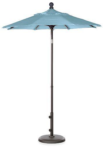 Maui 6' Umbrella in Charcoal & Blue