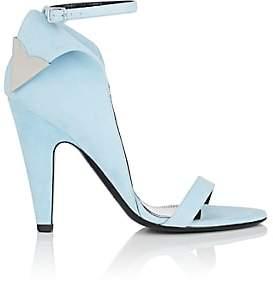 Calvin Klein Women's Leititia Suede Sandals-Lt. Blue Size 6.5