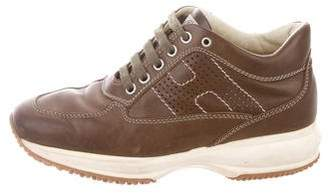 Hogan Leather Lace-Up Sneakers