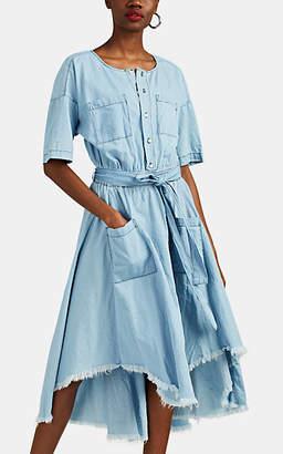 NSF Women's Dottie Cotton Chambray Belted Shirtdress - Blue