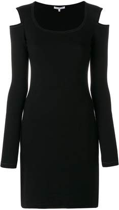 Helmut Lang knitted cut-out dress
